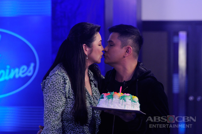 LOOK: Ogie visits Idol Philippines audition for Regine's birthday